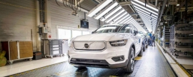 Fully electric Volvo XC40 Recharge P8 enters production