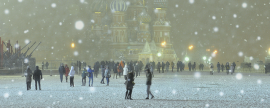 Moscow can be covered with snow in early April