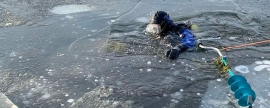 Fisherman of Samara region fell under ice of lake and drowned