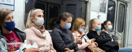 In St. Petersburg it is prohibited to get on public transport and taxi without mask