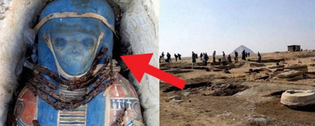 Ученые нашли в Египте гробницу с мумией гуманоида