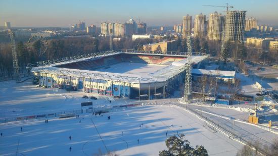 Самый большой каток Раменского будет залит на запасном поле стадиона «Сатурн»