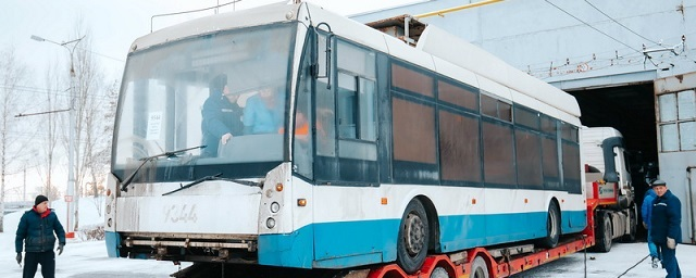 В Чебоксарах началась обкатка московских троллейбусов