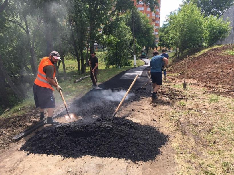 В Чехове в июне отремонтируют пять пешеходных дорожек
