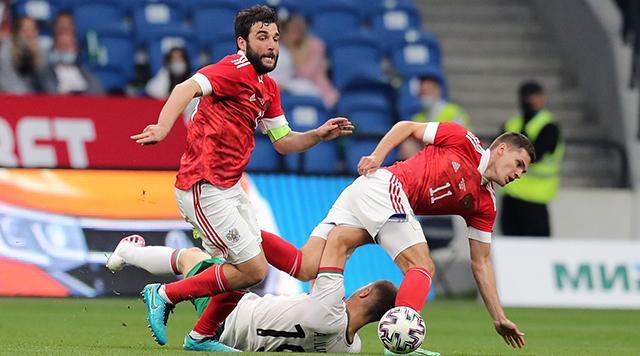 Победу в матче с командой Болгарии России принес гол Соболева