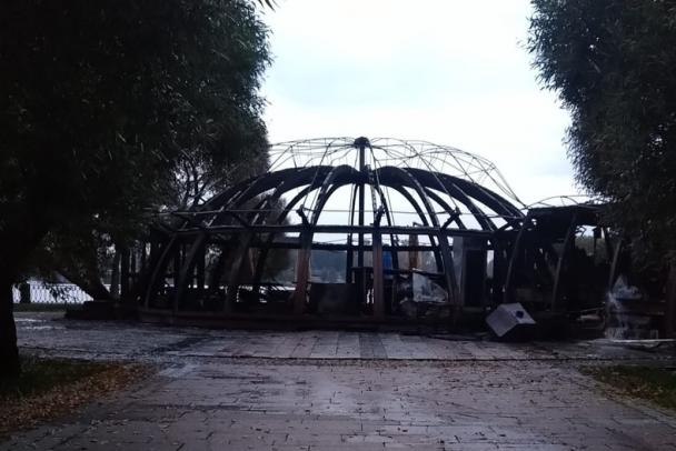 В Выборге сгорело кафе