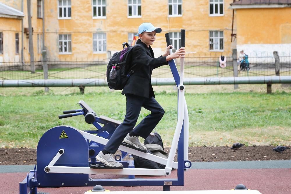 В Московском районе Нижнего Новгорода появилась новая воркаут-площадка