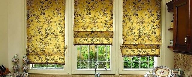 Римские шторы в дизайне интерьера дома