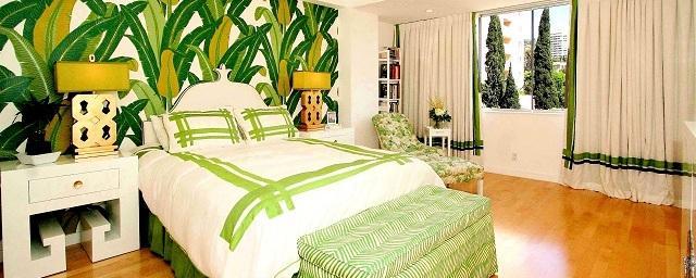Обустройство спальни в тропическом стиле