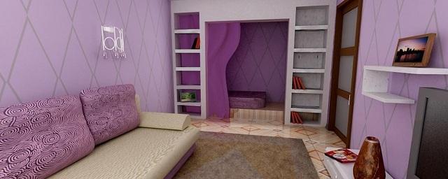 Сиреневый цвет в дизайне интерьера дома