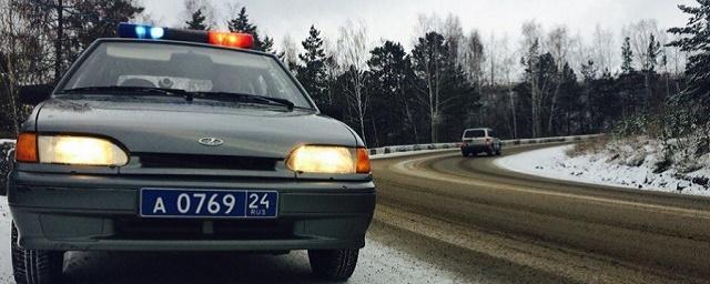 В Красноярском крае из-за снегопада на трассе М-54 ограничили движение