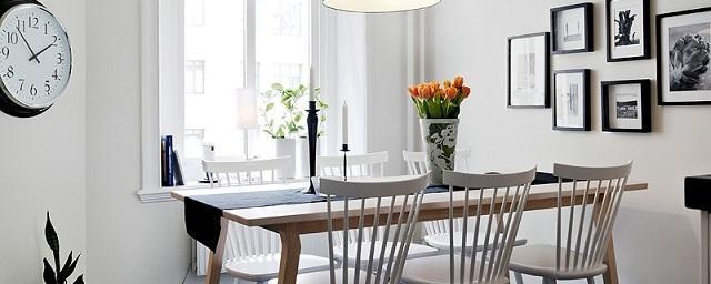Обустройство столовой в скандинавском стиле