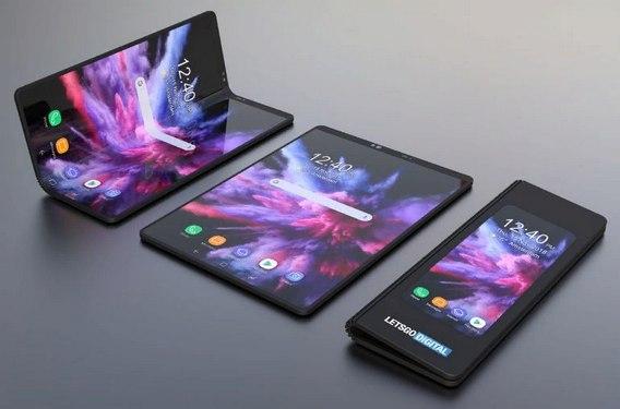 Винтернете опубликовали рендер гибкого телефона Самсунг