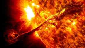 magnetic storm on the Sun