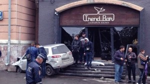 In Novosibirsk, the car flew into the building of the bar