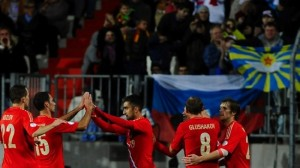 Russia team in Luxembourg