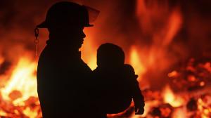 burn fire children