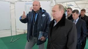 Dmitry Chernyshenko and Vladimir Putin