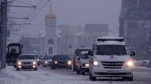 snow in Novosibirsk