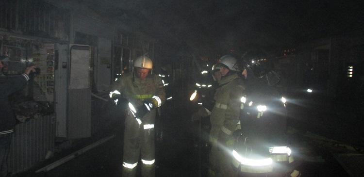 В Краснодаре на Восточном рынке произошел пожар