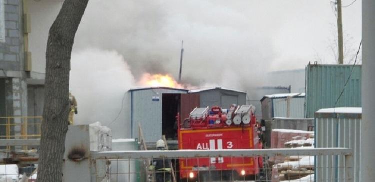 В Екатеринбурге на стройплощадке ЖК «Репин Парк» произошел пожар