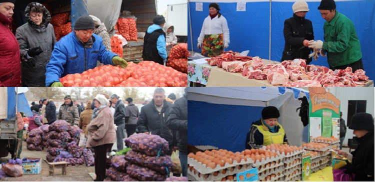 В Астрахани прошла ярмарка-выставка сельхозпродукции