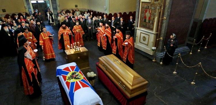 Прах Великого Князя Николая Николаевича и его супруги перезахоронен в России