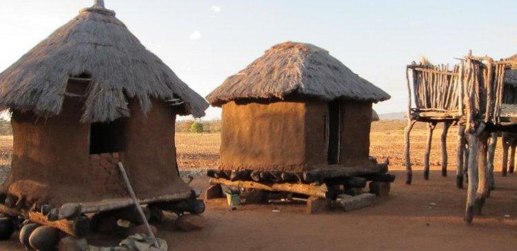 хижины Африка