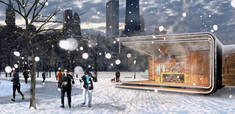 В столичных парках зимой москвичей согреют спа-киоски