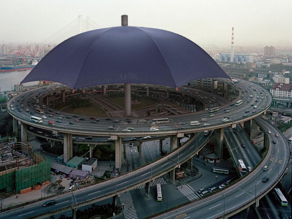 В Китае соорудили самый большой зонт в мире